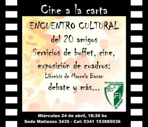 ENCUENTRO CULTURAL @ CLUB 20 AMIGOS