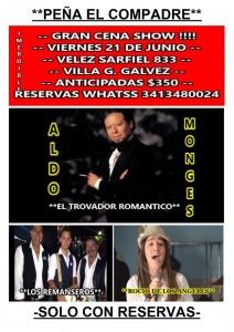 ALDO MONGES EN PEÑA EL COMPADRE @ VELEZ SARSFIELD 833 - VILLA GOBERNADOR GÁLVEZ