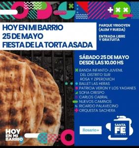 FIESTA DE LA TORTA ASADA EL 25 DE MAYO @ PARQUE YRIGOYEN - ROSARIO