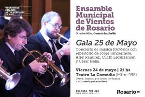 ENSAMBLE MUNICIPAL DE VIENTOS EL 24 DE MAYO @ TEATRO LA COMEDIA - ROSARIO