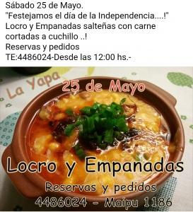 LOCRO Y EMPANADAS EL 25 DE MAYO EN LA YAPA ROSARIO @ LA YAPA - ROSARIO