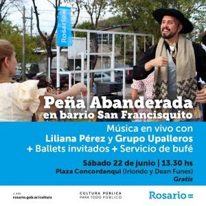 PEÑA LA ABANDERADA EN BO. SAN FRANCISQUITO - ROSARIO @ PLAZA CONDORCANQUI - ROSARIO