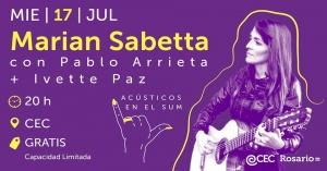 ACÚSTICOS EN EL SUM - MARIAM SABETTA-PABLO ARRIETA-IVETTE PAZ @ CENTRO DE EXPRESIONES CONTEMPORÁNEAS - ROSARIO