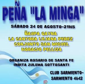 PEÑA LA MINGA EN CLUB SARMIENTO - ROSARIO @ CLUB SARMIENTO - ROSARIO