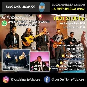 PEÑA LOS DEL NORTE FOLKLORE @ EL GALPÓN DE LA AMISTAD - ROSARIO