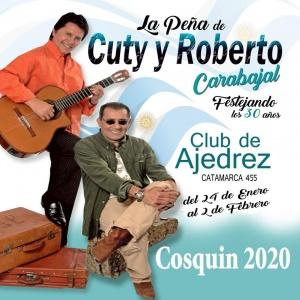 PEÑA DE CUTI Y ROBERTO CARABAJAL EN COSQUÍN 2020 @ CLUB DE AJEDRÉZ - COSQUÍN