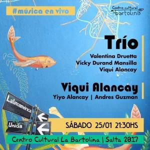 TRÍO DRUETTA-MANSILLA-ALANCAY EN LA BARTOLINA @ LA BARTOLINA - ROSARIO
