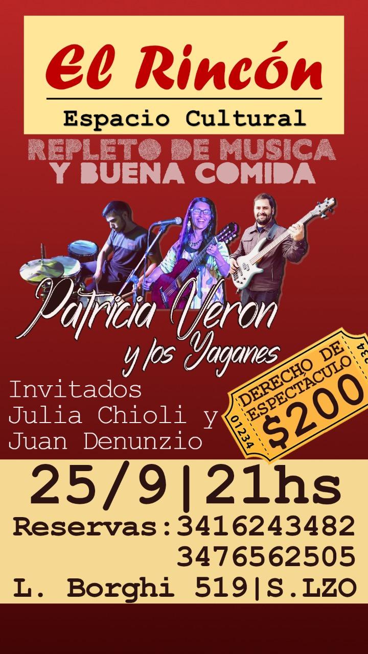 PATRICIA VERÓN Y LOS YAGANES en EL RINCÓN ESPACIO CULTURAL @ El Rincón (Espacio Cultural)