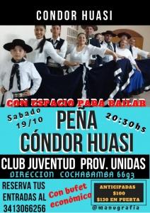 PEÑA CONDOR HUASI @ JUVENTUS PROVINCIAS UNIDAS - ROSARIO
