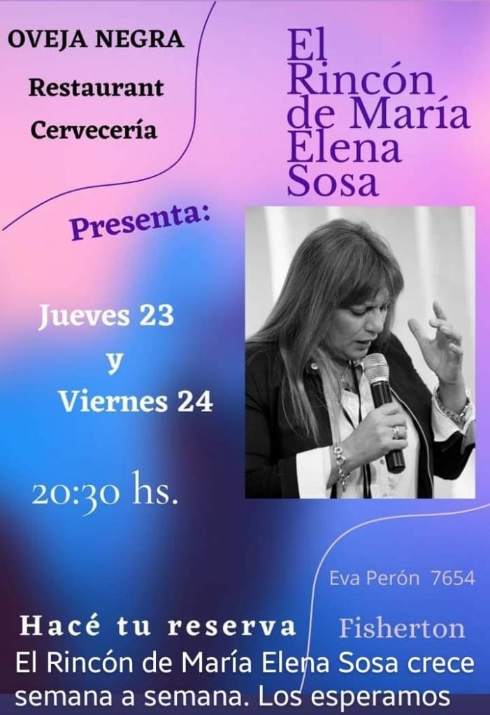 EL RINCÓN DE MARÍA ELENA SOSA en OVEJA NEGRA @ Oveja Negra
